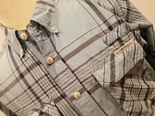 Exofficio Blue Plaid Shirt Hunting Fishing Size Medium Perfect