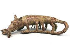 Art Africain - Magnifique Bronze Animalier Baoulé - Léopard Akan - 17 Cms +++++