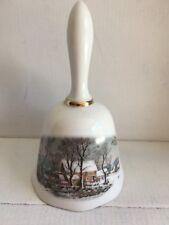 """Avon bell 1978 award for representatives, winter scene 5 1/4"""" tall"""
