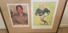 John Ireland Framed Caricature Of Francois Pienaar Signed Limited 238/500 COA