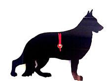 German Shepherd Dog GSD Dog Clock in Black Acrylic