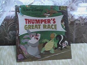 Thumper's Great Race 33 Record orginally sealed never opened Walt Disney