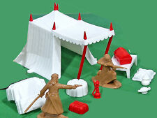 Marx Recast Arab Tent & Accessories - 54mm toy soldiers - figures not included