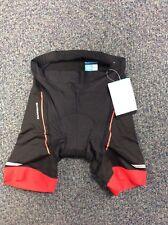 Shimano Clothing Men's, Active Pedaling Shorts, Black/Red, Large