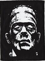 BORIS KARLOFF FRANKENSTEIN MONSTER BLK PATCH GOTH PUNK PSYCHOBILLY 14cm X 19.5cm