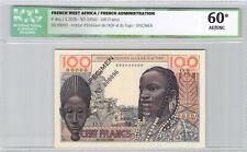 AOF & Togo Spécimen 100 Francs (1956) Pick 46s ICG 60*