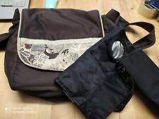 Lässig Wickeltasche mit vielen Fächern ;Wickelmatte und Flaschen wärmer und Win