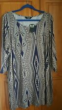 K&D LONDON PRINT DETAIL PLUS SIZE UK 20 TOP NEW WITH TAGS