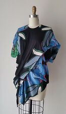 Marni Floral Printed Asymmetrical Exposed Zipper Detailed Top Sz 42