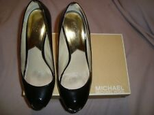 Michael Kors UK 7.5  EU 40.5 US 9.5 M BLACK Patent Leather Wedge  RRP £ 120.00