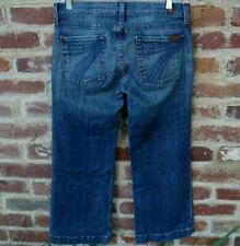 7 for All Mankind Dojo Capri Crop Stretch Jeans 7 FAM Size 29 (30x24) W30 L24