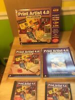 Print Artist Version 4.0 - PC CD ROM Software SIERRA Complete W/Box Manuals 1997