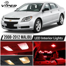 2008-2012 Chevy Malibu Red LED Interior Lights Package Kit