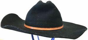 Resistol Black PBR Doubleback Western Hat 7 1/2