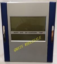1 Digital Clock Thermomet Calendar Temp Alarm Count Down Up Timer Wall Or Stand