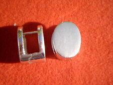 Klappcreolen Sterlingsilber, Herrencreolen Silbercreolen,16 x 12 mm, teilmatt