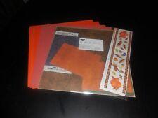 creative memories autumn additions plus orange scrapbooking paper and stickers