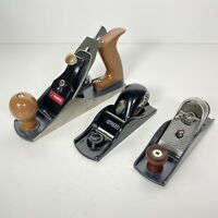 Lot Of 3 Wood Planes Stanley & Great Neck VGC