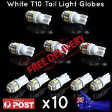 10x T10 194 168 SMD 5050 LED Car Wedge Tail Side Parking Light Globe 12V - WHITE