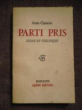 Jean Cassou, Parti pris. Essais et colloques