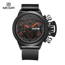 MEGIR MN2002G/BK-1 casual chronograph military water resistant quartz watch men