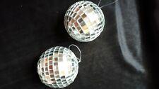 Spiegelkugeln   2 Stück  Anhänger  6cm  Discokugel - Mirrorball 6cm  Neu