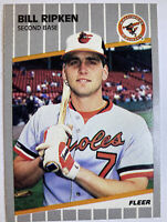 Bill Ripken 1989 Fleer Error Black Box Card #616 Baltimore Orioles