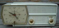 Vintage RCA Victor Tube Clock Radio ~ 8-C-5L ~ Light Blue ~ with Original Manual