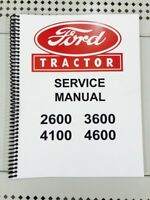 3600 Ford Tractor Technical Service Shop Repair Manual Book