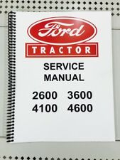 4100 Ford Tractor Technical Service Shop Repair Manual Book