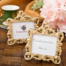 10 x Gold Vintage Baroque Design Place Card Holder Wedding Table Event Decor SF