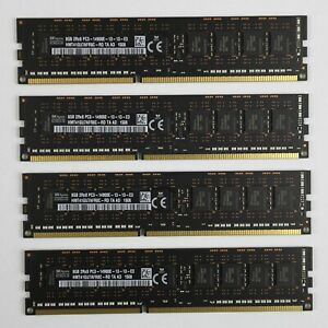 Genuine Apple SK Hynix 32Gb (4x8Gb) DDR3-1866 PC3-14900E ECC 240-Pin RAM Memory