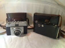 Vintage Ilford Sportsman & Folding Camera w Cases SPARES or REPAIR Only