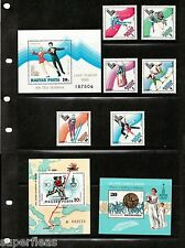 1980 Hungary Magyar stamps. Moscow & Lake Placid Olympic postal souvenirs MNH