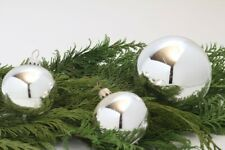 Christmas Tree Ball Glitter Decor Silver Shiny