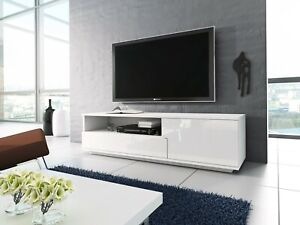 Modern 138cm TV Unit Cabinet Matt body and High gloss doors