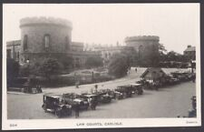 More details for carlisle, cumbria. carlisle law courts with a line of vintage motor cars. rppc