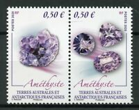 FSAT TAAF Minerals Stamps 2020 MNH Amethyst 2v Set in Pairs