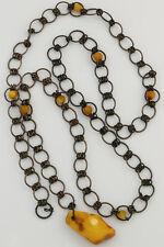 Antique Genuine Baltic Amber Vintage Chain Belt 79.3g 180726-2