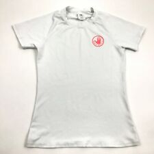 Body Glove White Rash Guard Shirt Short Sleeve UV BLOCK Size S Small Womens Surf