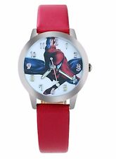 Reloj de Pulsera Niños Spiderman Reloj de Pulsera Analógico Correa de Cuero Delgado Rojo Spider Man