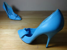 "Womens shoes size 5 blue Vintage ""Derber"" 4 inch stiletto heels leather size 5"