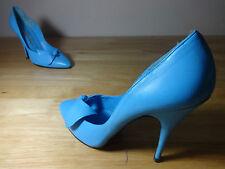 """Zapatos para mujer Talla 5 Azul Vintage """"Derber"""" Zapatos De Taco 4 Pulgadas Cuero Talla 5"""