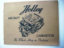 """1943 """"Holley Aircraft Carburetors"""" Booklet - Lots Of Pics Of Military Airplanes*"""