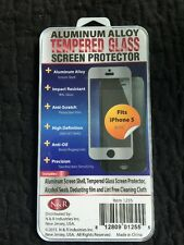 "Aluminum Alloy tempered glass screen protector iphone 5/5s 4"" Color Is Gold"