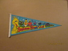 Sesame Street Live! Vintage Circa 1984 Muppet Characters,Inc. Pennant