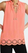 River Island Neon Pink Broiderie Tank Top - Size L , BNWT