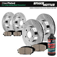 Front+Rear Drilled Slotted Brake Rotors And 8 Ceramic Pads For Infiniti Nissan