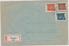 CZECHOSLOVAKIA SLOVAKIA REGISTERED COVER KRUPINA 20.VII 1945