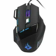 5500 DPI Wired Gaming Mouse LED Durable Optical Game Mice 7 Button For PC Laptop